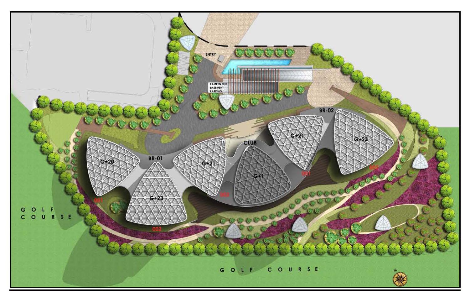 jaypee boomerang residences site plan