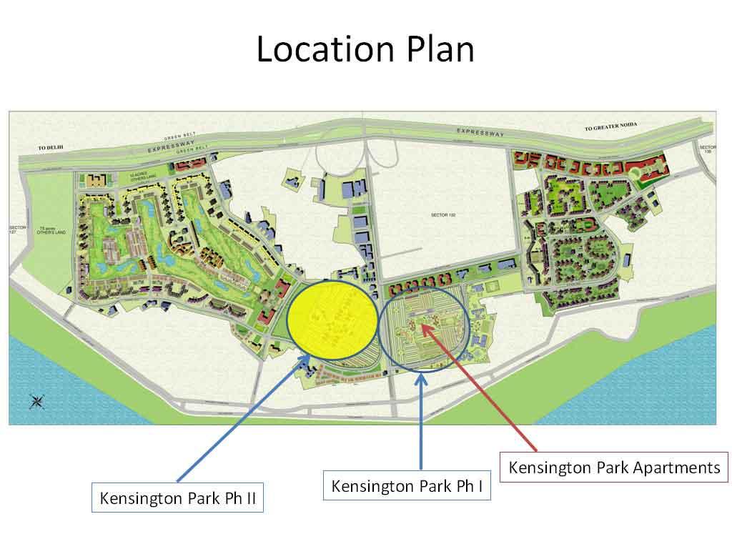 jaypee greens kensigton park location map
