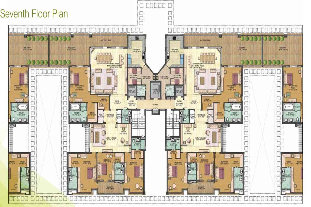 jaypee greens pebble cour floor plant 4bhk 4600 sqr ft