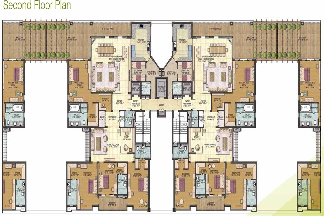jaypee greens pebble court floor plan. 4bhk 4900 sq rft