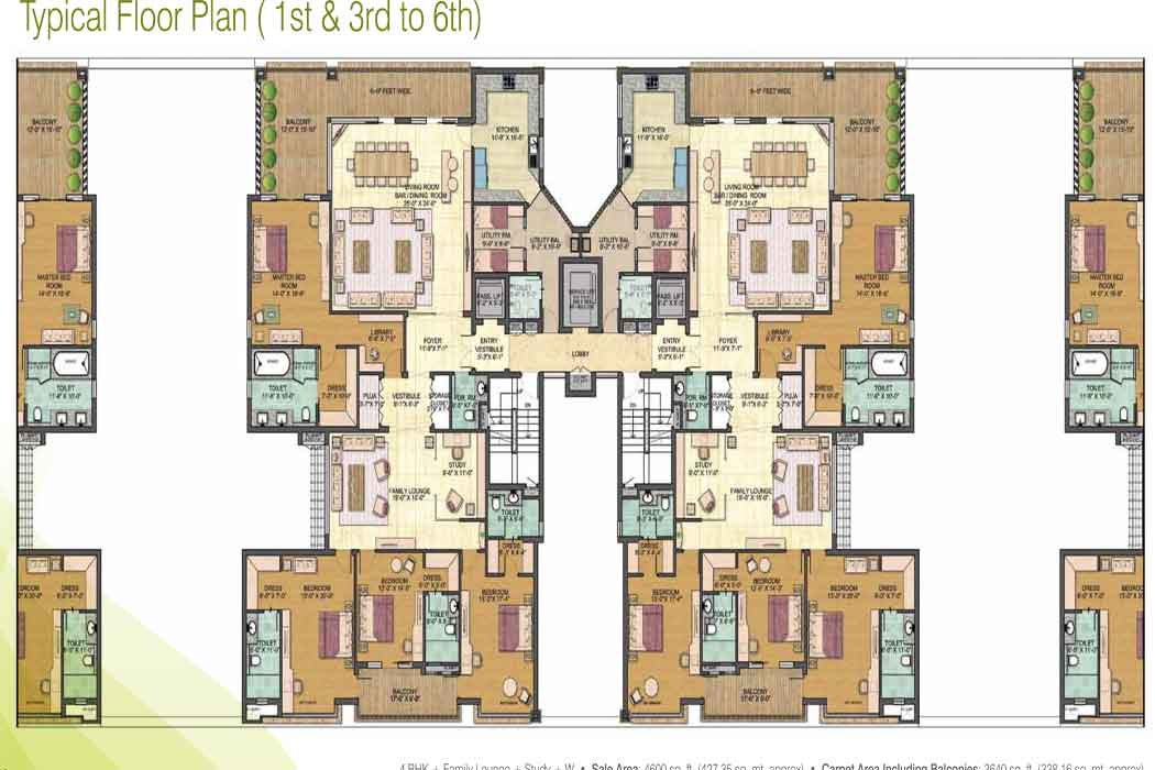 jaypee greens pebble court floor plan4bhk 4600 sqr ft