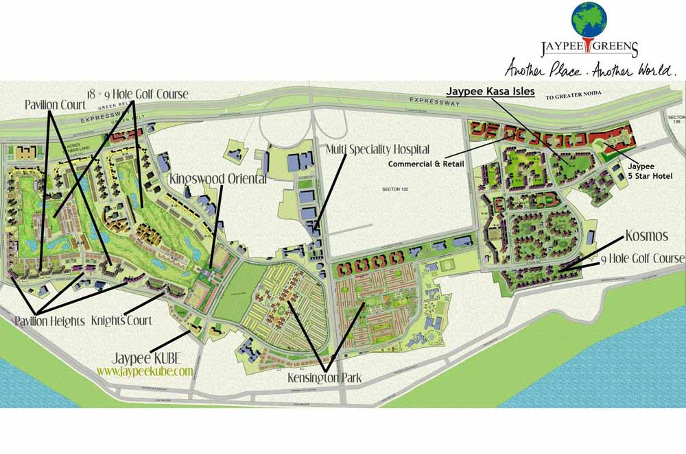 jaypee kube floor plan location map