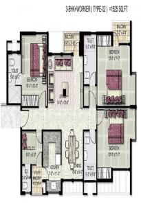 kensington park floor plan 3bhk worker 1525 sqr ft