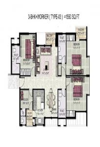 kensington park floor plan 3bhk worker 1550 sqr ft