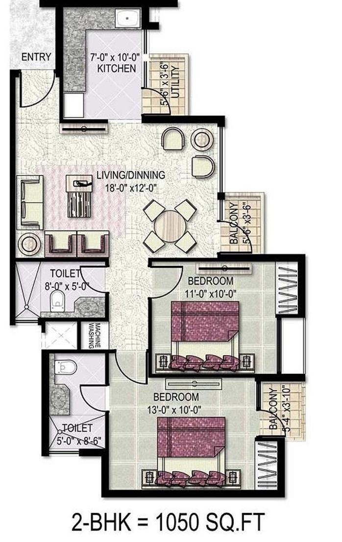 kensington park floor plan2bhk 1050 sqr ft