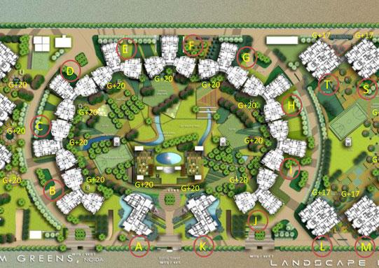 logix blossom green site plan