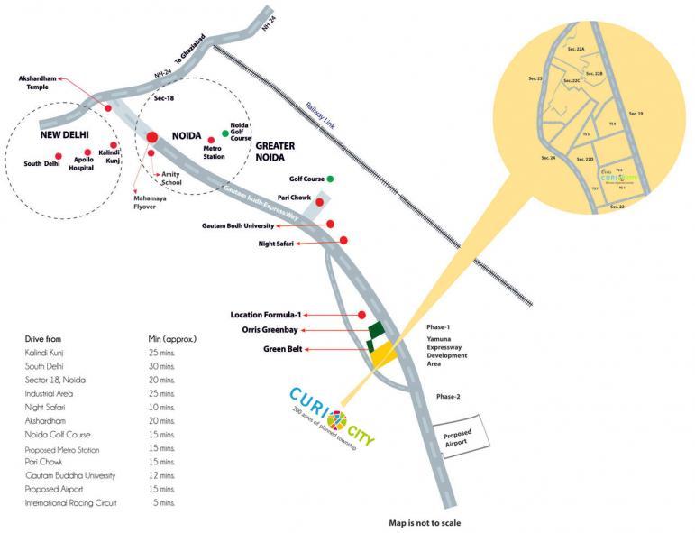 orris curio city location map