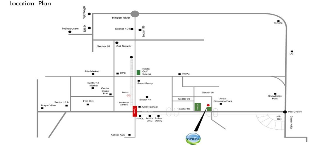paras tierea location map