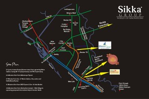 sikka kaamna greens locaton map