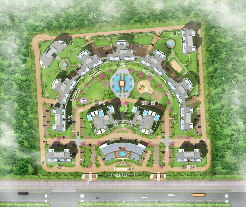 sikka kaamna greens site plan