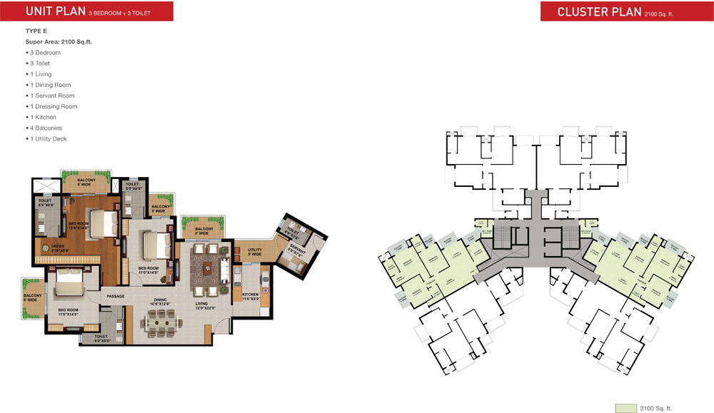 sunworld arista floor plan 3bhk 1600 sqrft