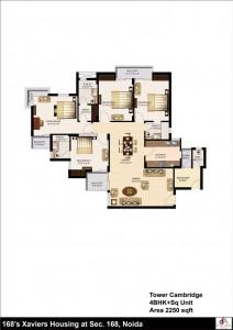 urbtech xaviers floor plan 4bhk 2250 sqrft