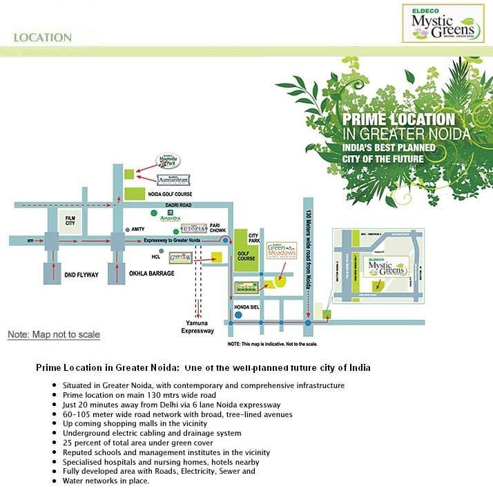 eldeco mystic green location map