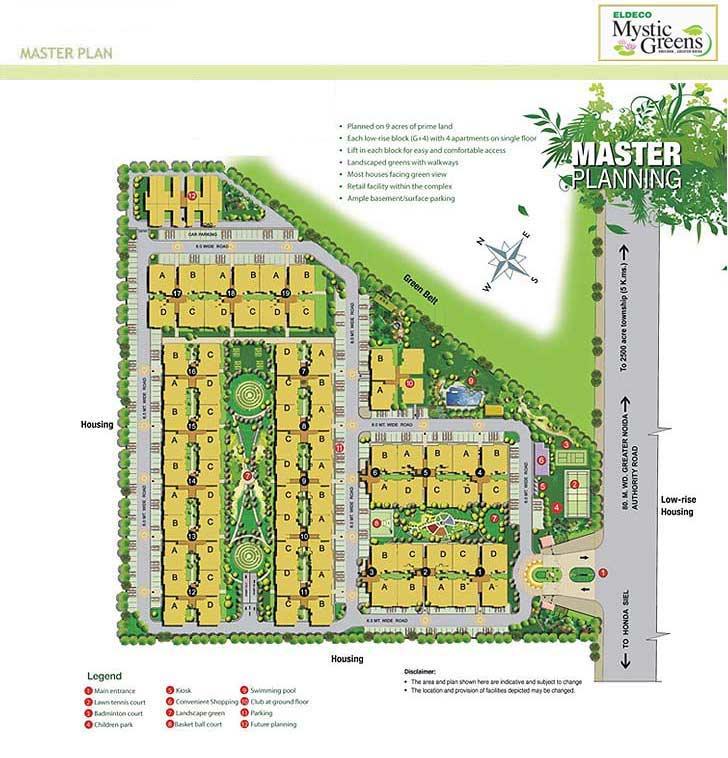 eldeco mystic green site plan