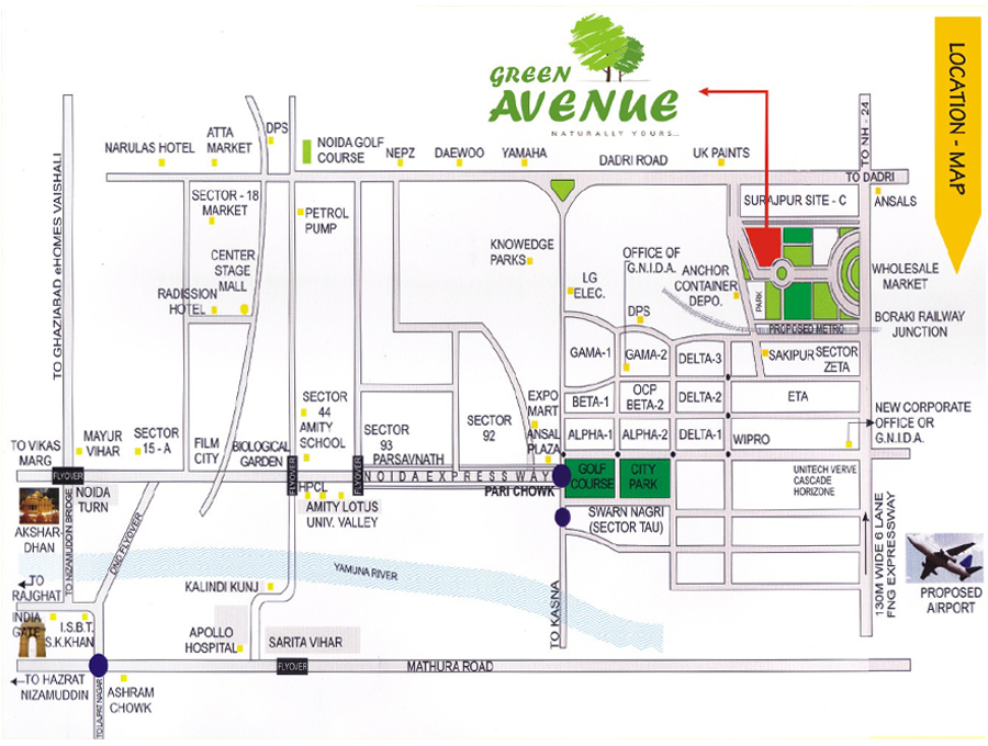 green avenue location map