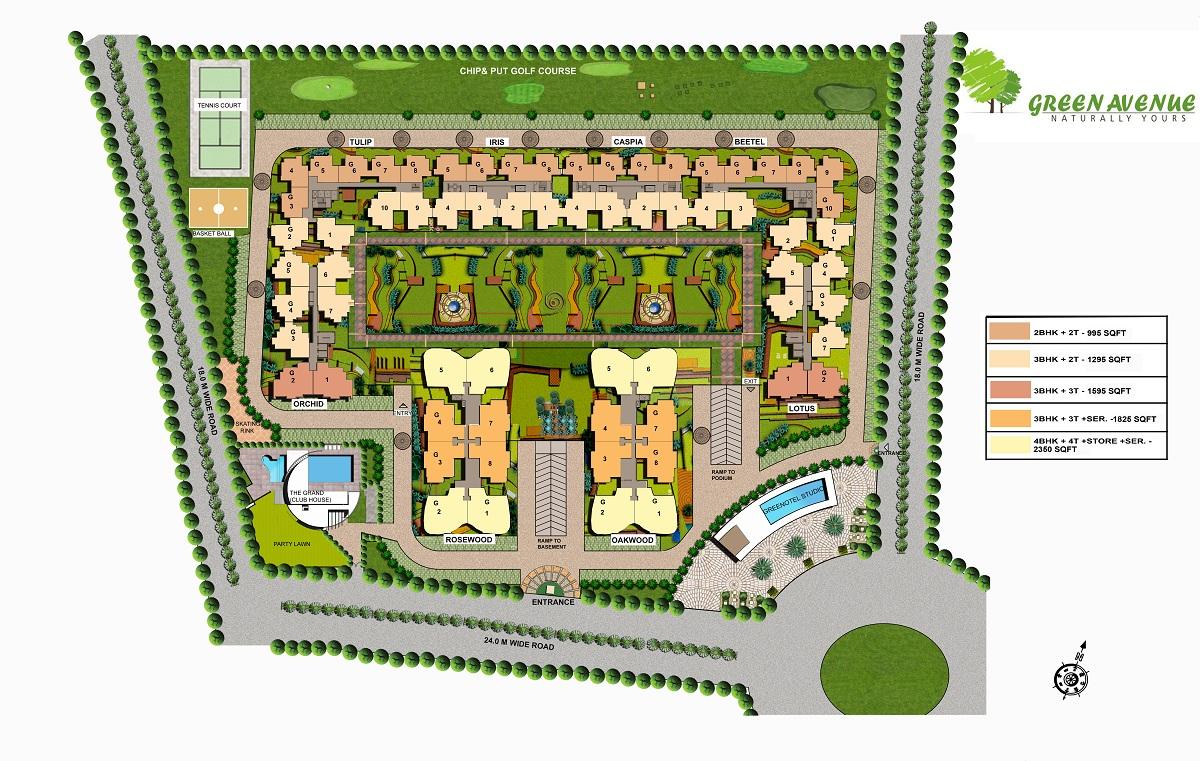 green avenue site plan
