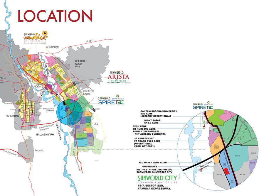 sunworld vandita location map