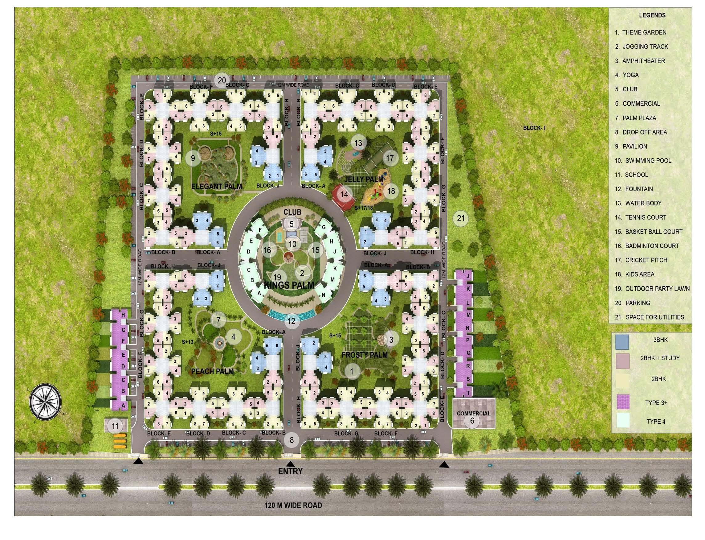 the golden plan village site plan