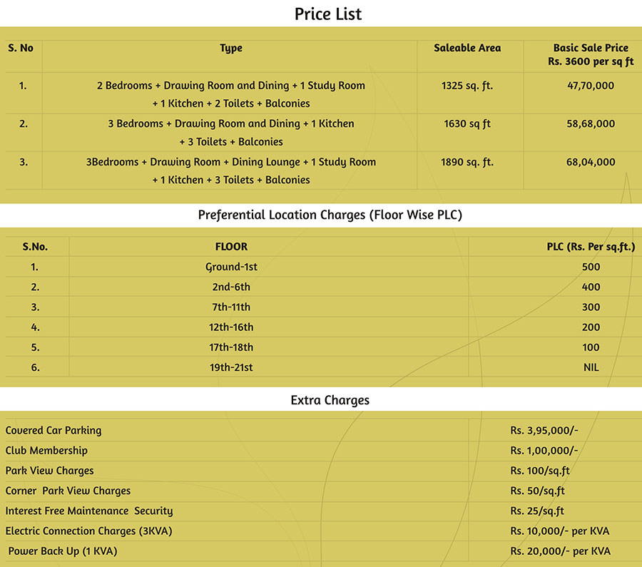 saviour greenarch price list