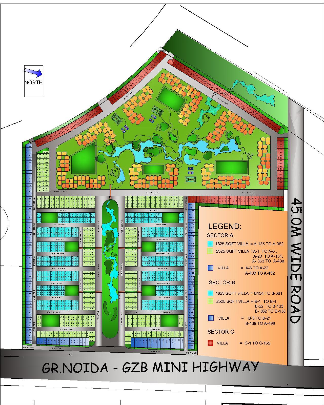 amrapali leisure valley site plan