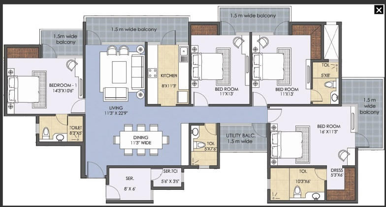 patel new town floor plan 4bhk 4toilet.