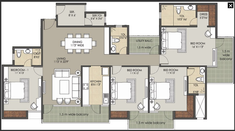 patel new town floor plan 4bhk 4toilet