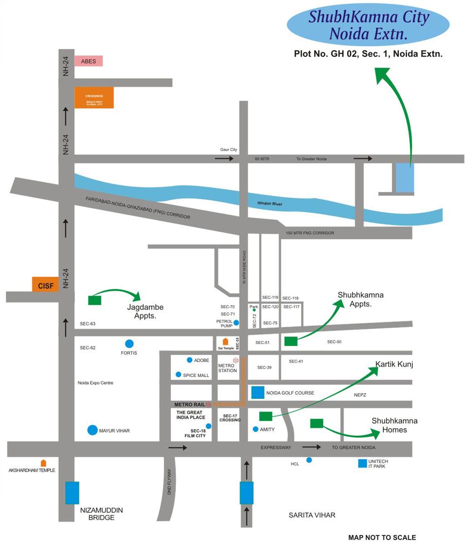 shubhkamna city location map