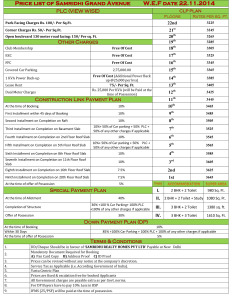 samridhi grand avenue price list