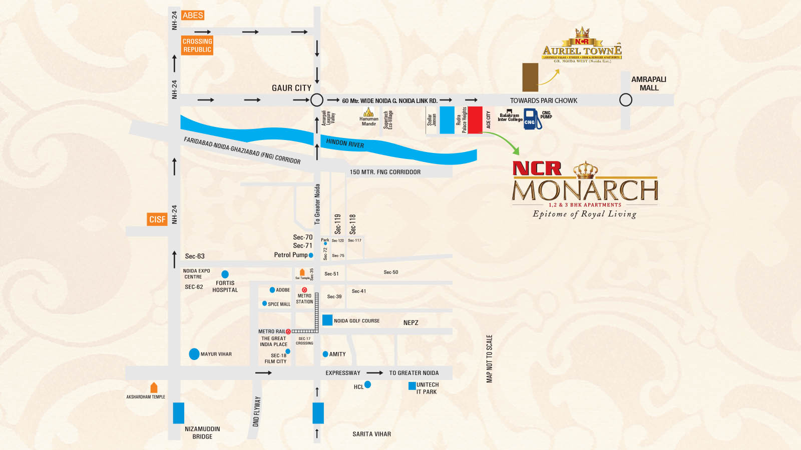 ncr monarch location map