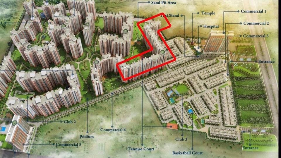 Amrapali Enchante site plan