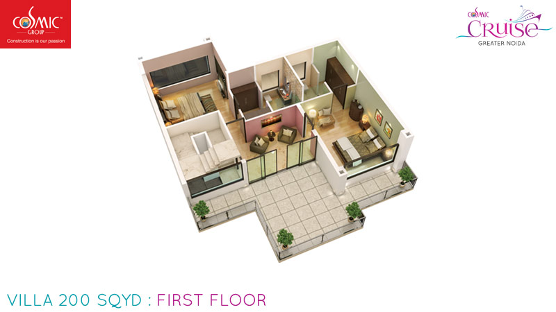 cosmic cruise villa  first floor 200 sqyd