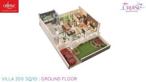 cosmic cruise villa ground floor 200 sqyd