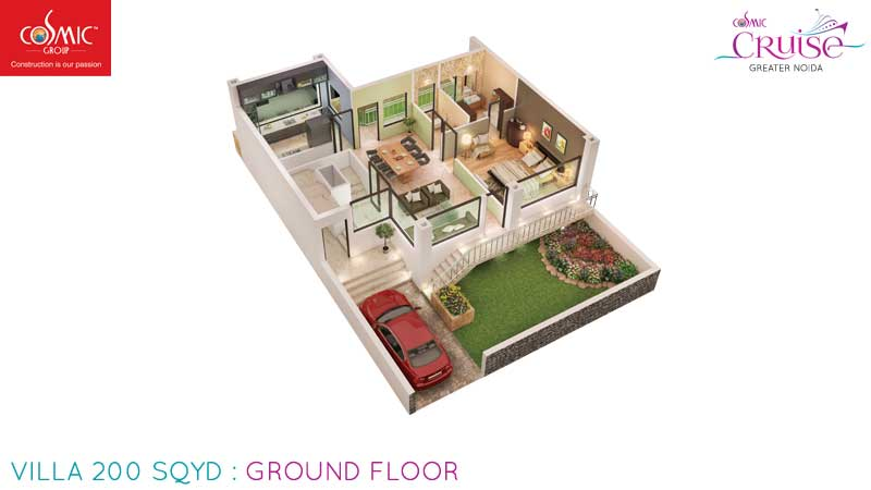 cosmic cruise villa  ground floor 200 sqyd