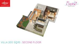 cosmic cruise villa second floor 200 sqyd