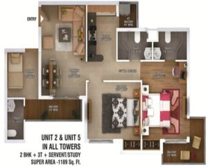 ratan pearls floor plan 2bhk 2toilet 1189 sq.ft