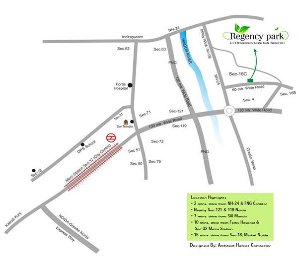 aarcity regency park location map