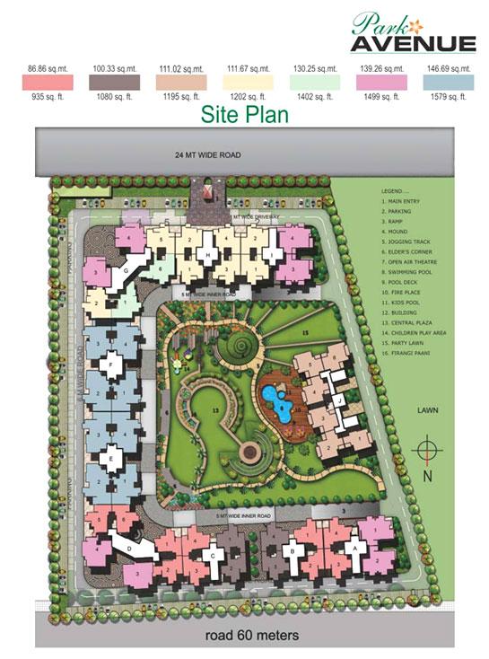 age park avenue site plan