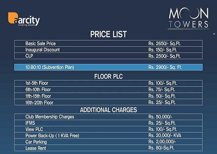 aarcity moon towers price list