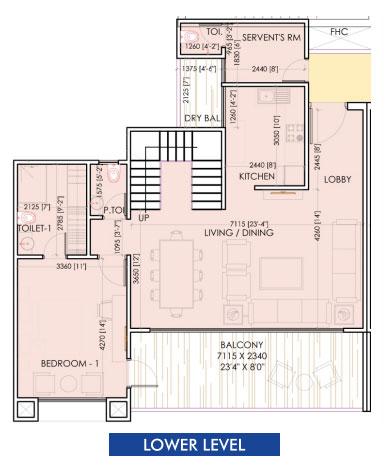 aarcity sky villa floor plan lower level