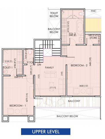 aarcity sky villa floor plan upper level