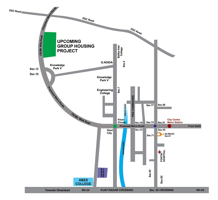 aarcity sky villa location map