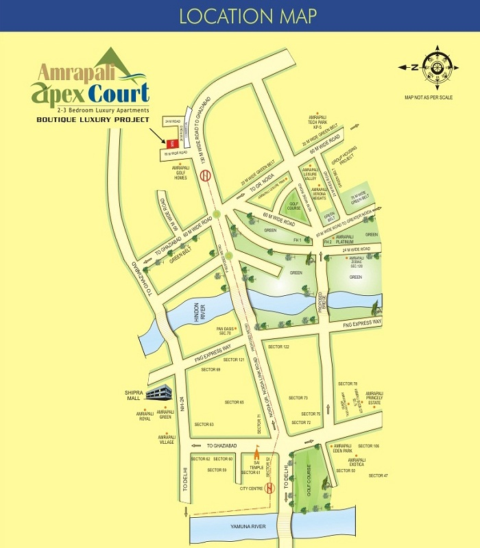 amrapali apex court location map