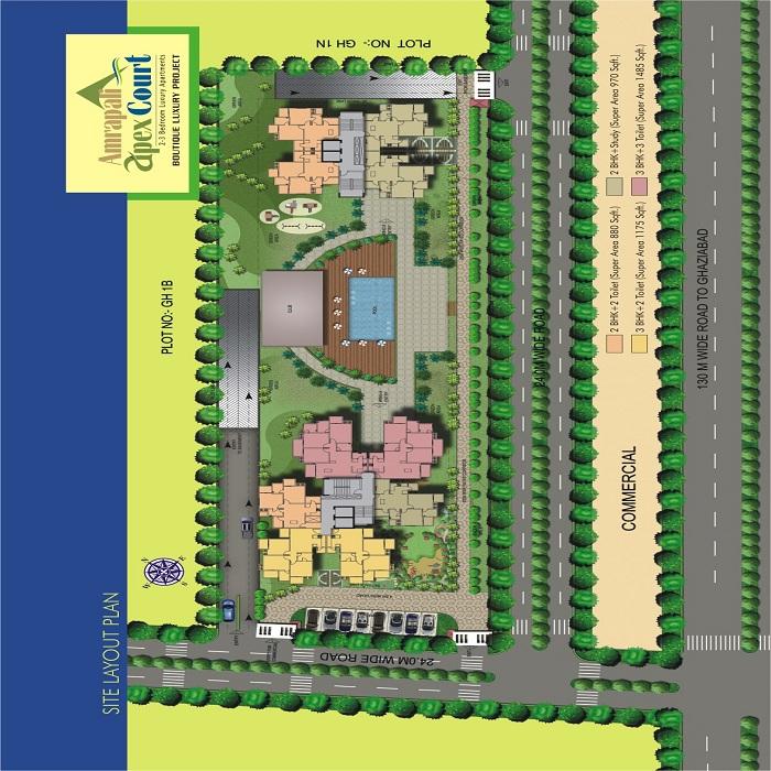 amrapali apex court site plan