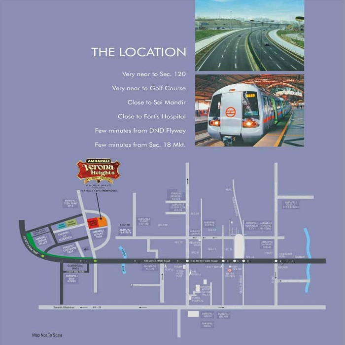 amrapali ivory heights location map