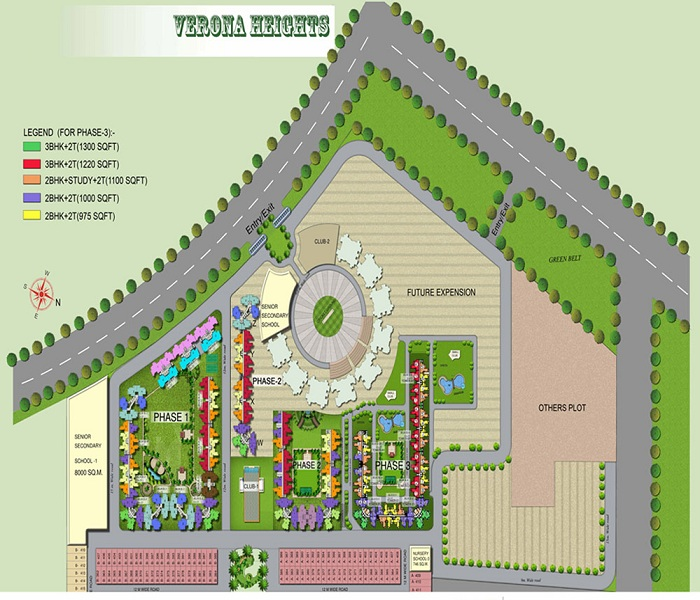 amrapali ivory heights site plan