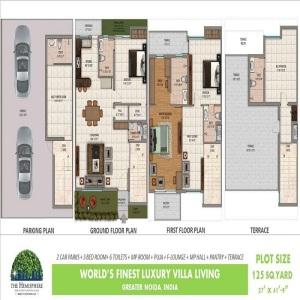 amrapali the hemisphere floor plan 3bhk 6toilet 2648 sq.ft