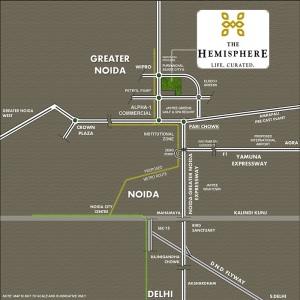 amrapali the hemisphere location map
