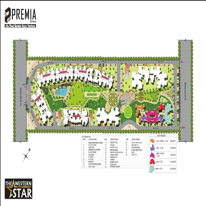 premia western star site plan