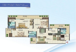 nirala splendora floor plan 3bhk 3toilet 1825 sq.ft