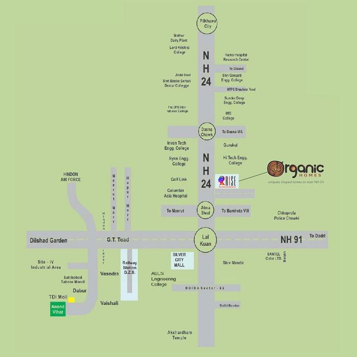 organic homes location map